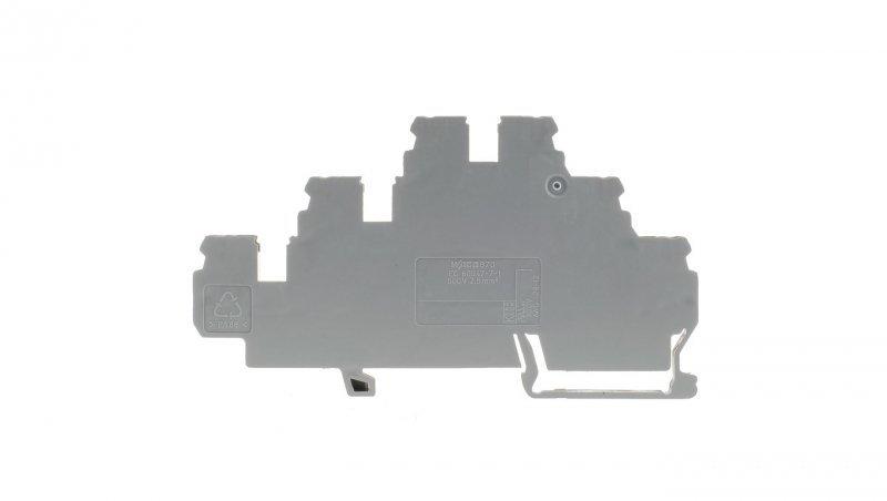 Złączka szynowa 3-pietrowa L / L / L 2,5mm2 szara 870-551