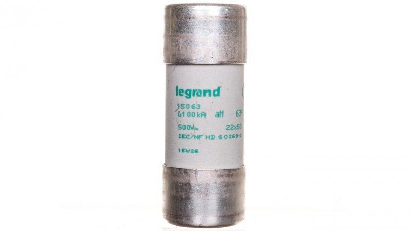 Legrand Wkładka bezpiecznikowa cylindryczna 22x58mm 63A aM 500V HPC 015063