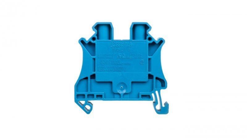 Złączka szynowa przepustowa 2-przewodowa 0,2-10mm2 niebieska UT 6 BU 3044144 /50szt./
