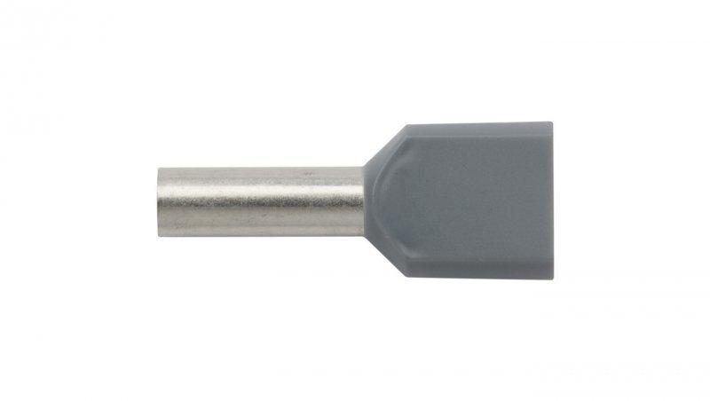 Końcówka tulejkowa izolowana HI 2X4/12 szara E08KH-02020102101 /100szt./
