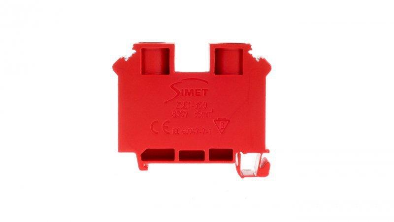 Złączka szynowa gwintowa 2-przewodowa 35mm2 czerwona ZUG1-35 12701311