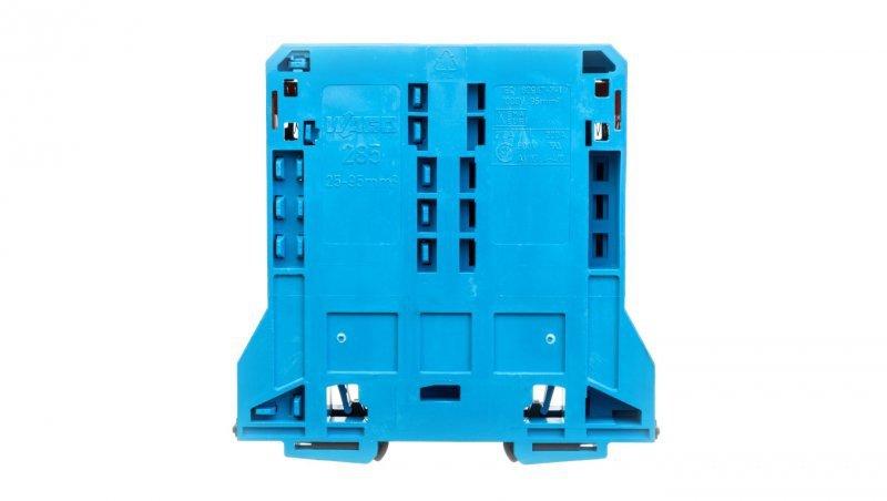 Złączka szynowa 2-przewodowa 95mm2 niebieska 285-194