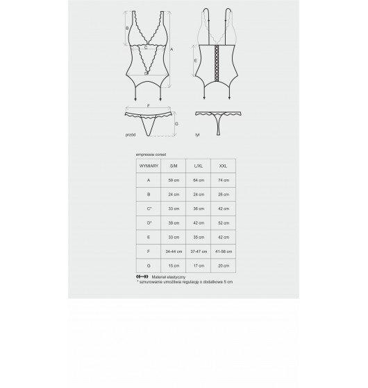 Emperita gorset i stringi S/M
