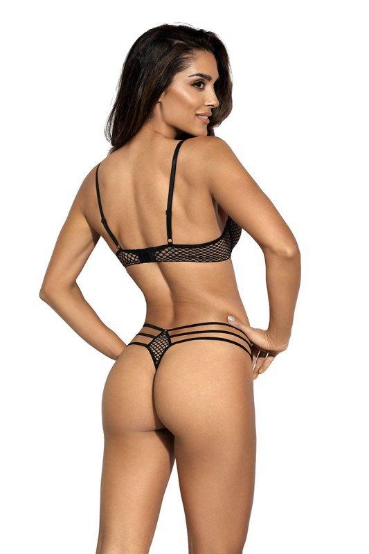 Biustonosz Soft Model V-9041 Seductive Woman Beige/Black - Axami