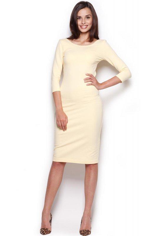 Sukienka Model 301 Yellow - Figl