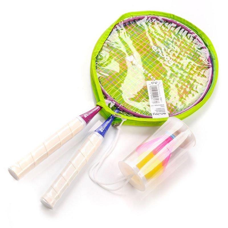 Zestaw do badmintona Meteor Junior 2 rakietki+lotka+piłeczka
