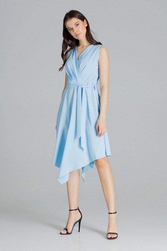Sukienka L080 Niebieski XL