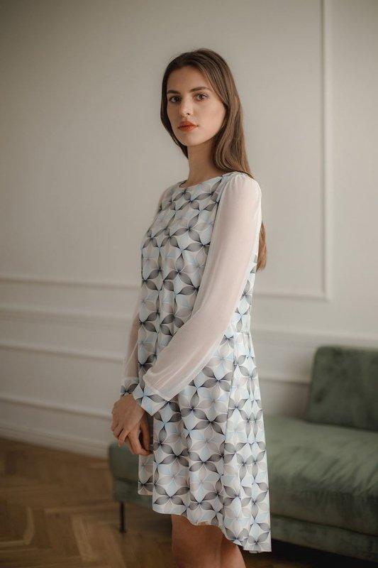 Sukienka L082 Wzór 114 S