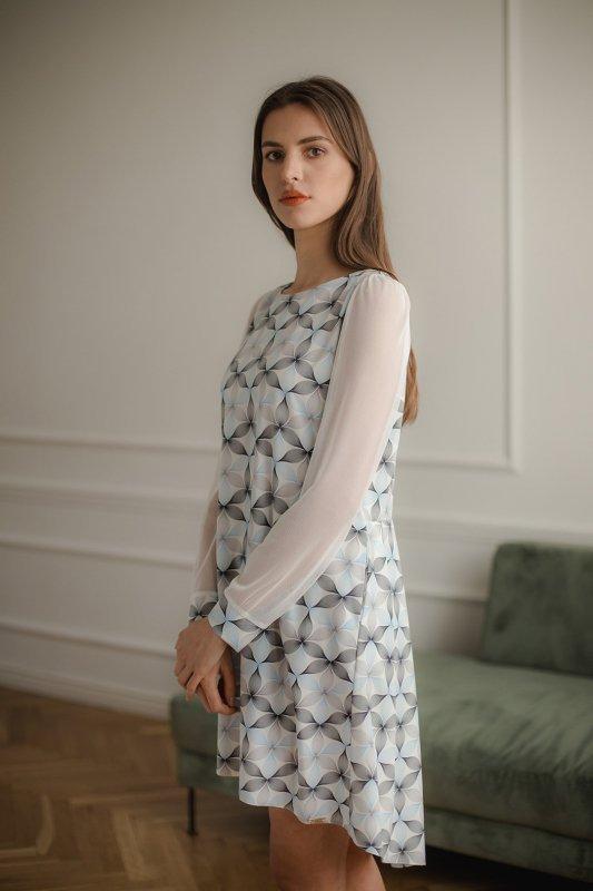 Sukienka L082 Wzór 114 XL