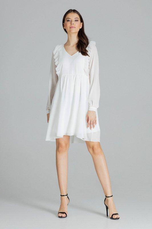 Sukienka L083 Ecru S