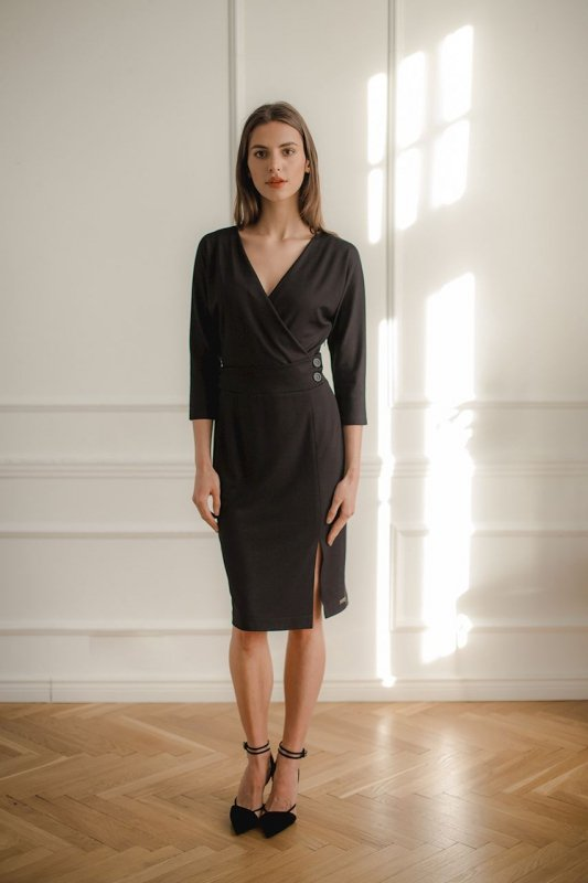 Sukienka L086 Czarny XL