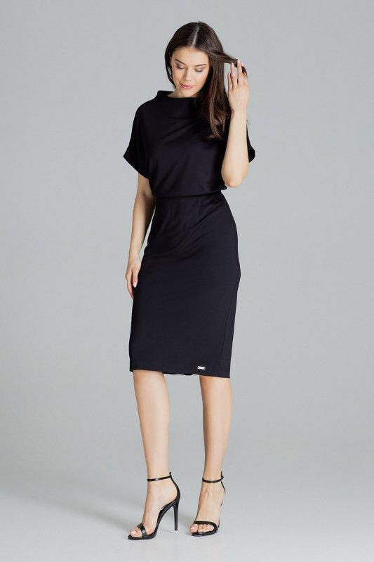Sukienka L087 Czarny XL