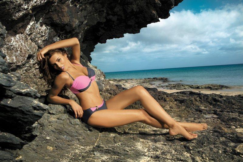 Kostium kąpielowy Liliana Titanium-Hollywood m-259 Szaro-różowy (17)
