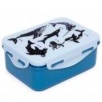 Pudełko śniadaniowe dla dziecka -  Lunchbox Niebieski - Zwierzęta morskie