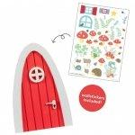 Naklejki - Czerwone Wróżkowe Drzwi do Leśnej Krainy - A Little Lovely Company
