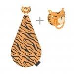 3 w 1 smoczek z gryzakiem + kocyk przytulanka - Tygrys Terry