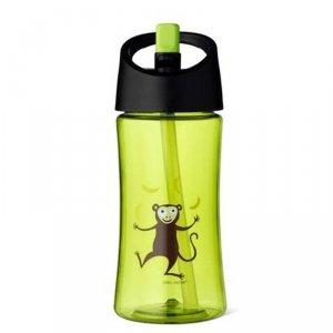 Transparentny bidon ze słomką 350 ml Lime - Małpka