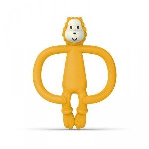 Lew - masujący gryzak ze szczoteczką w kolorze żółtym. Matchstick Monkey