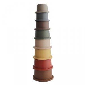Wieża z kubeczków - Stacking Tower RETRO - Mushie