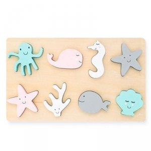 Puzzle drewniane Sea Animals Zwierzęta Morskie - Jollein