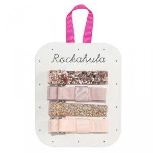 Rockahula Kids - spinki do włosów dla dziewczynki Sparkle Bar Rose Gold