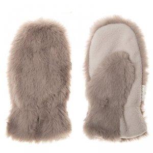 Rękawiczki zimowe dla dziecka futerko BRĄZOWY MISIU 7 - 10 lat -Rockahula Kids
