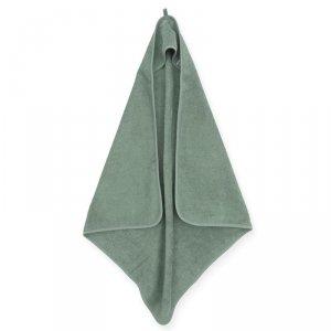 Ręcznik kąpielowy z kapturkiem dla dziecka 75 x 75 cm FROTTE ASH GREEN -  Jollein