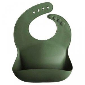 Śliniak silikonowy dla dzieci - zielony -  Mushie