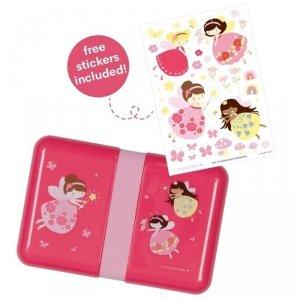 Śniadaniówka  dla dzieci Lunchbox Wróżki z naklejkami - A Little Lovely Company