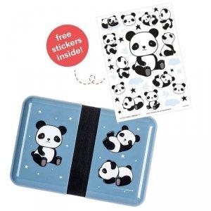 Śniadaniówka dla dzieci Lunchbox Panda z naklejkami  - A Little Lovely Company