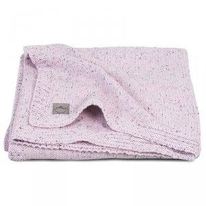 Bawełniany kocyk tkany dla dziecka 75 x 100 cm Vinatge Knit TOG 1.0 CONFETTI PINK - Jollein