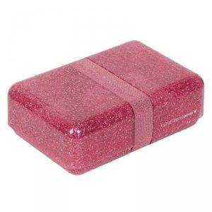 Śniadaniówka Lunchbox Brokat Różowy - A Little Lovely Company