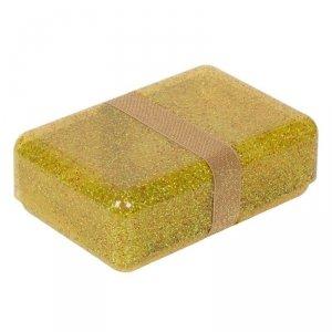 Śniadaniówka Lunchbox Brokat Złoty - A Little Lovely Company