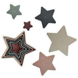 Piramidka sensoryczna dla dziecka NESTING STAR - Mushie