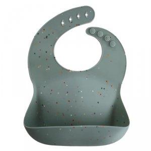 Śliniak silikonowy dla dziecka Cambridge Blue Confetti - Mushie