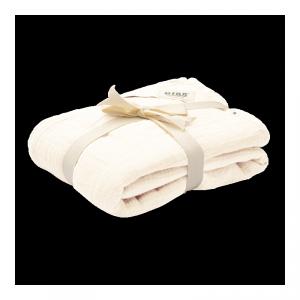 Kocyk letni dla dziecka 100% GOTS organic cotton 120 x 120 Ivory - BIBS