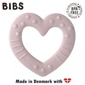 Gryzak dla niemowlaka w kształcie serca - Pink Plum - BIBS BABY BITIE HEART