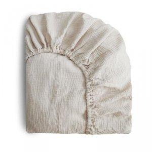Prześcieradło do łóżeczka dla dziecka 120 x 60 cm Breathable Cotton Fog - Mushie