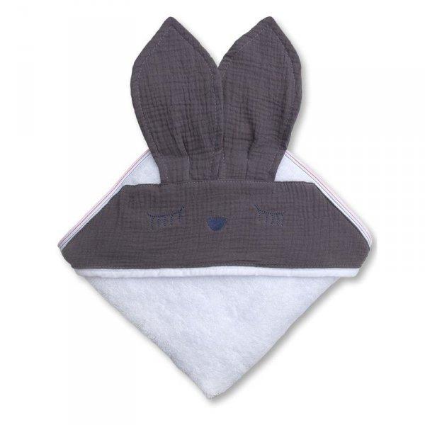 Hi Little One - Ręcznik z kapturkiem 100 x 100 SLEEPY BUNNY hooded bath towel Iron