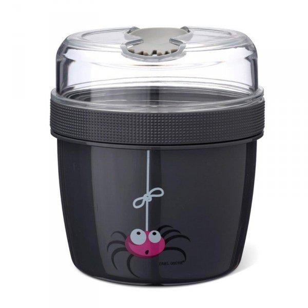 Pojemnik śniadaniowy z wkładem chłodzący szary - Pająk/Spider
