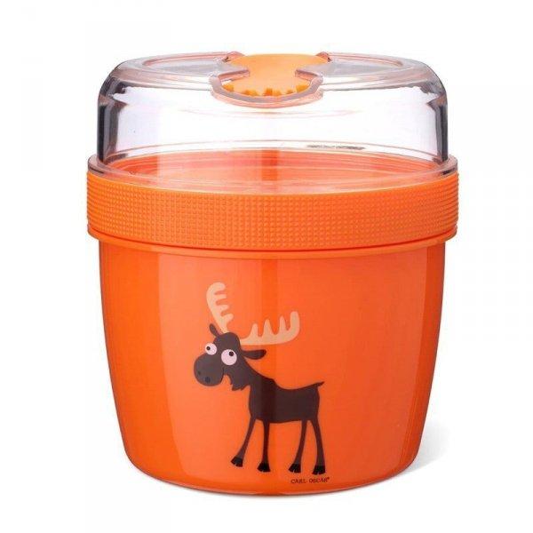 Pojemnik śniadaniowy z wkładem chłodzący - Pomarańczowy Łoś