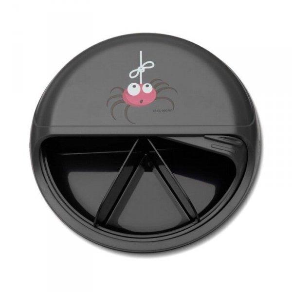 5 komorowy obrotowy pojemnik na przekąski szary - Pająk/Spider - 15 x 15 x 4