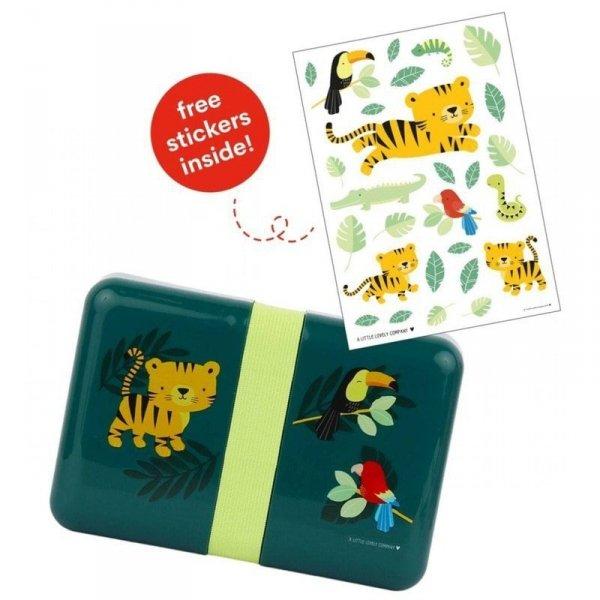 Pudełko na śniadanie - Lunchbox -Tygrysek z naklejkami