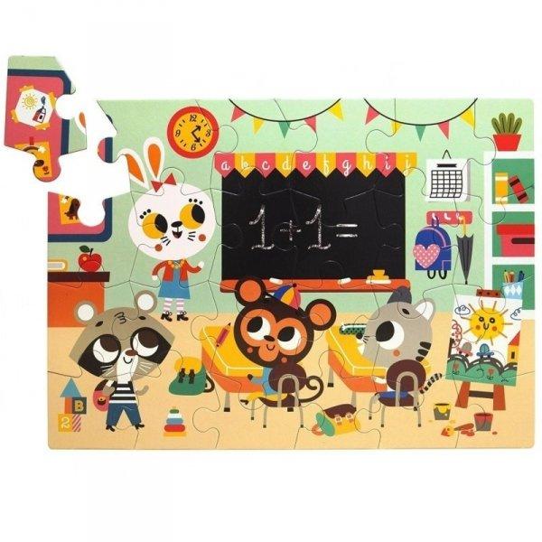 Petit Monkey -  MAXI PUZZLE Wesołe zwierzęta - Szkoła