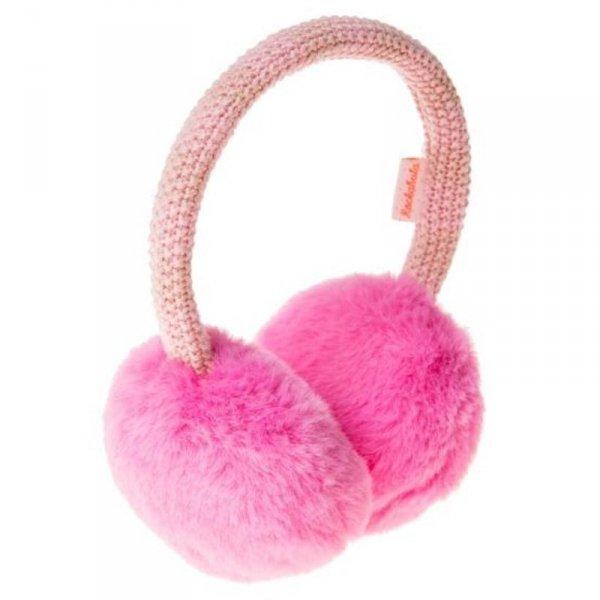 Nauszniki w kolorze różowym z futerkiem