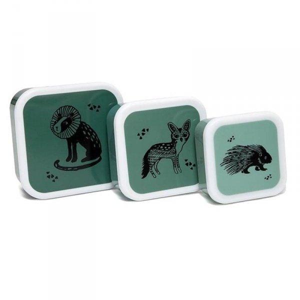 Petit Monkey - Zestaw 3 śniadaniówek lunchbox dla dziecka - Black Animals saliePowrótZapisz i wyjdźZapisz