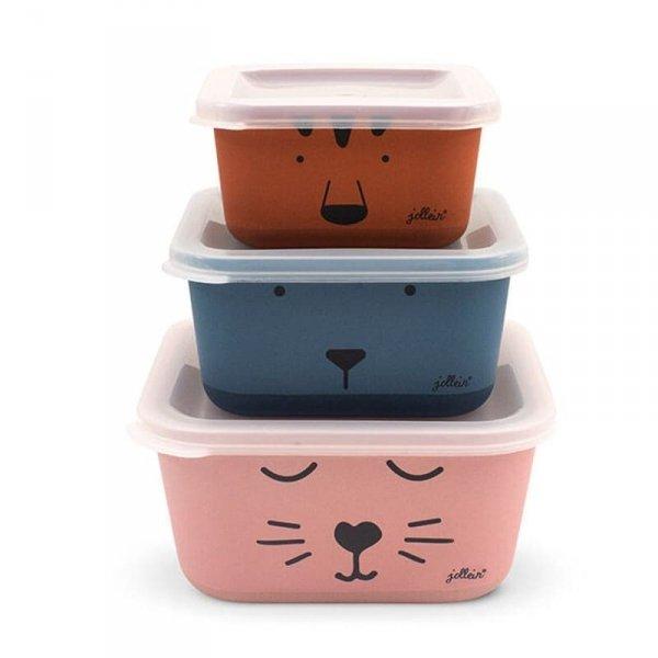 3 śniadaniówki EKO Lunchbox - Zwierzęcy klub - Animal Club