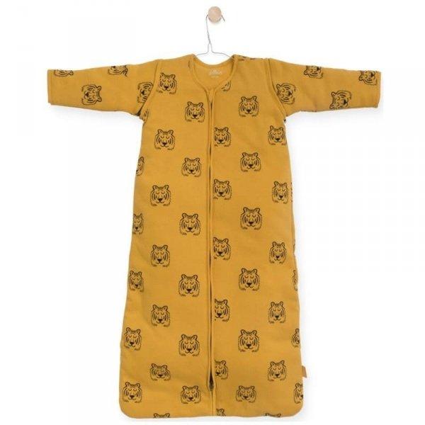 Jollein - Śpiworek niemowlęcy całoroczny 4 pory roku z odpinanymi rękawami Tiger MUSTARD 70 cm