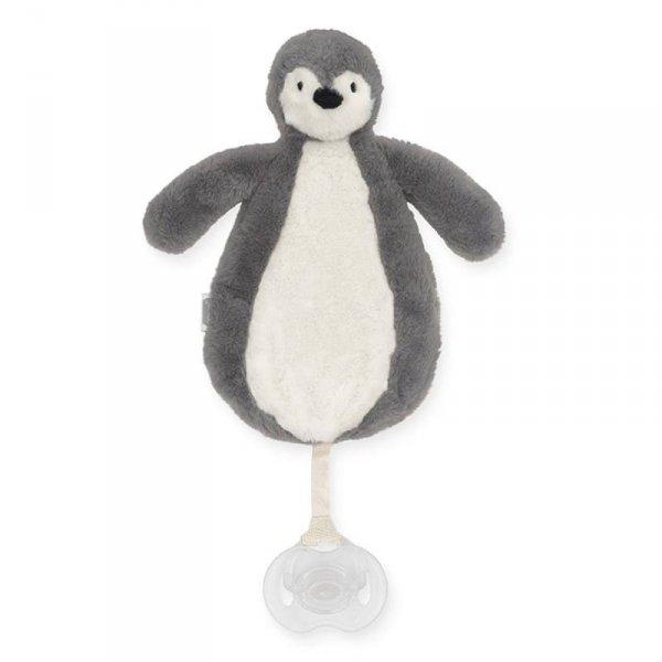 Przytulanka dla dzieci dou dou z zawieszką na smoczek Pingwin STORM GREY - Jollein