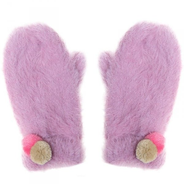 Rękawiczki zimowe dla dziewczynki Pomponiki Fluffy Spot 7 - 10 lat - Rockahula Kids